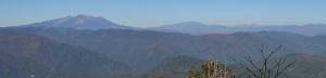南木曽岳 上野原コースから御岳、乗鞍、穂高遠望